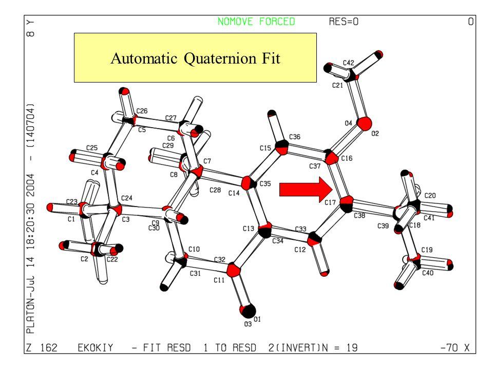 Automatic Quaternion Fit
