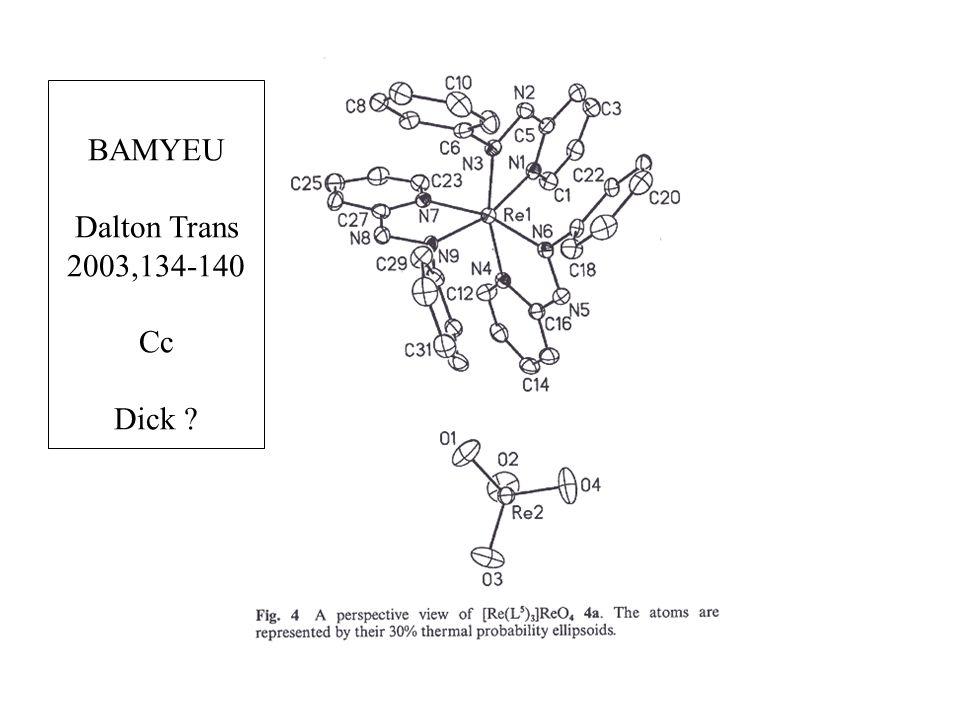 BAMYEU Dalton Trans 2003,134-140 Cc Dick