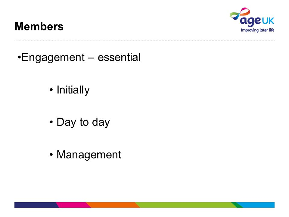 Members Engagement – essential Initially Day to day Management