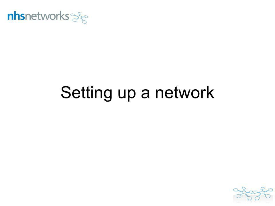 Setting up a network