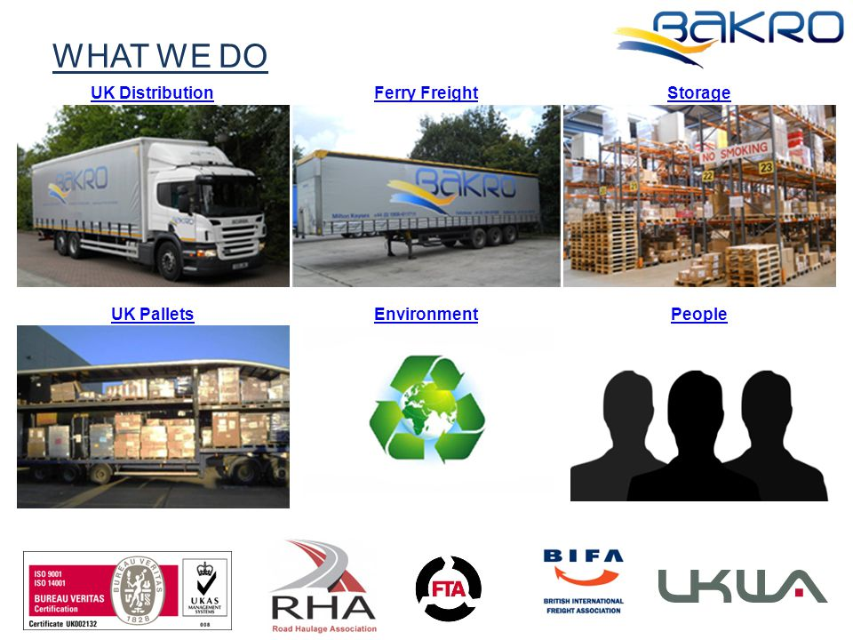 UK DistributionFerry FreightStorage UK PalletsEnvironmentPeople WHAT WE DO