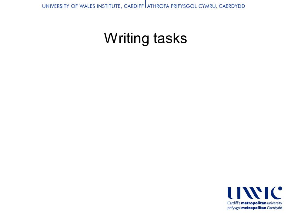 Writing tasks