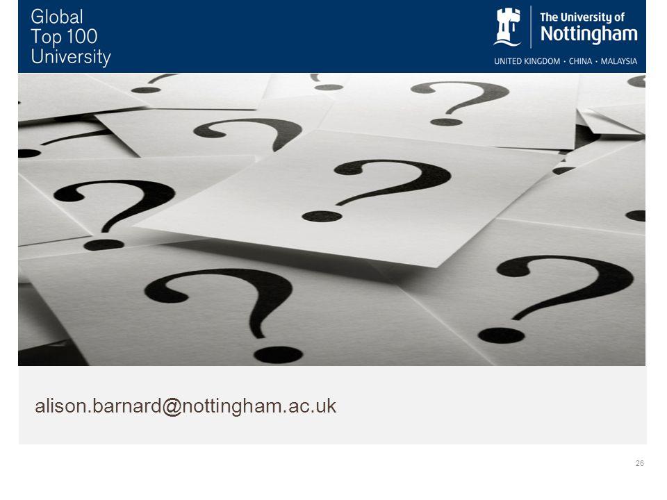26 alison.barnard@nottingham.ac.uk