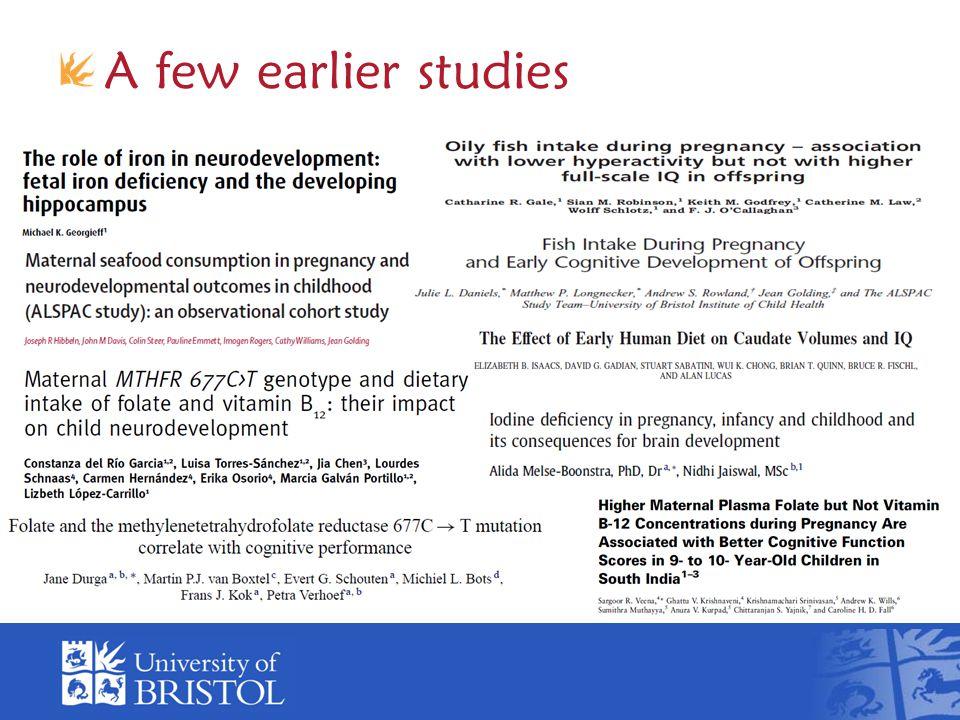 A few earlier studies