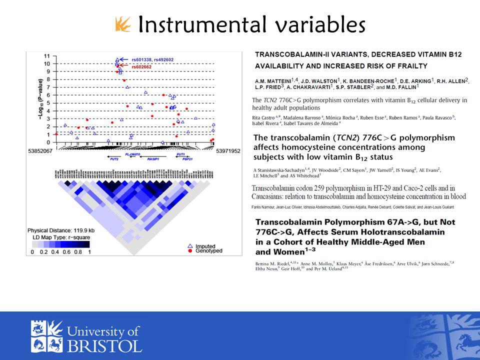 Instrumental variables