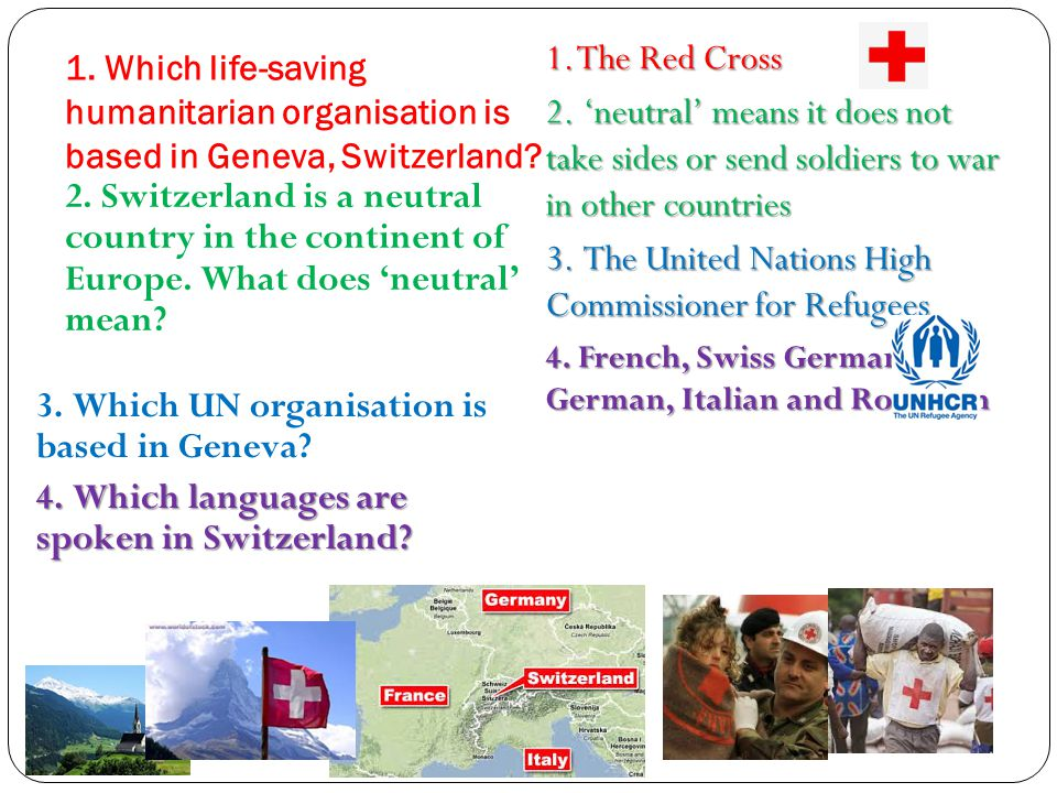 Name two ways in which the Red Cross helps people.