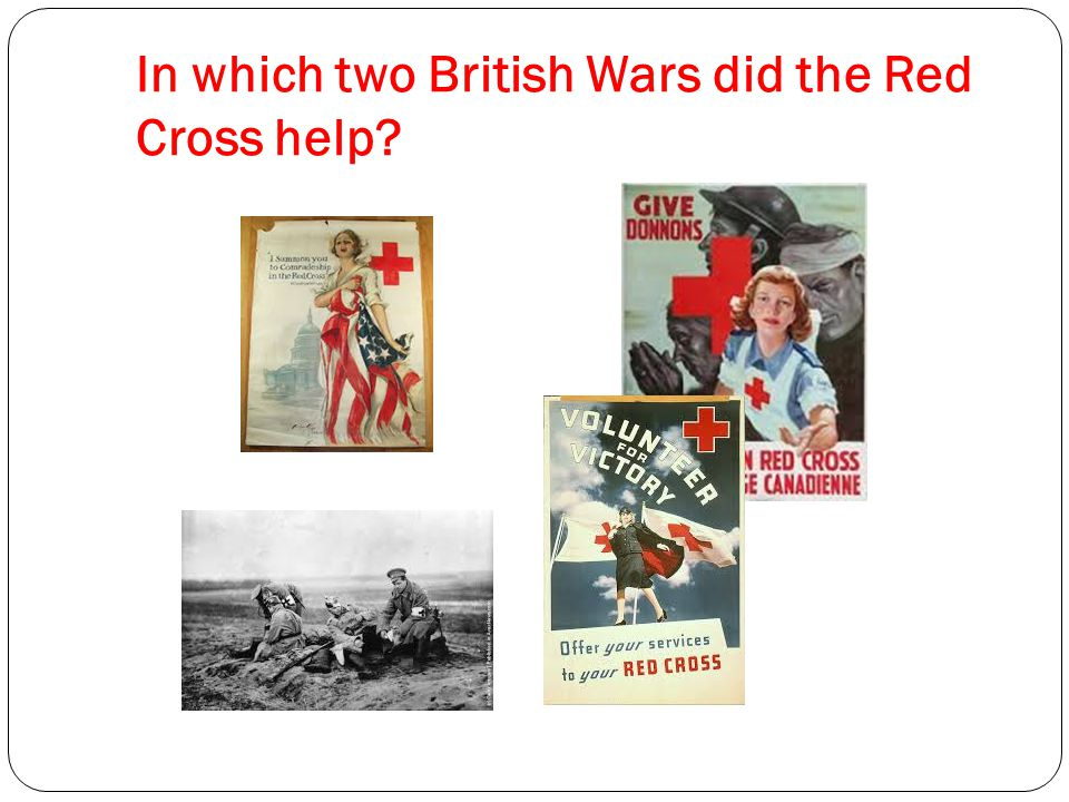 In which two British Wars did the Red Cross help?