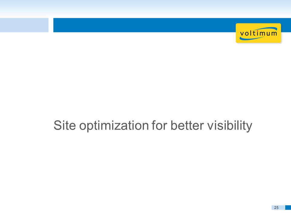25 Site optimization for better visibility