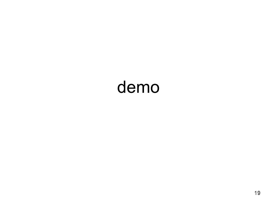 19 demo