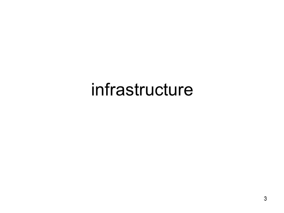 3 infrastructure