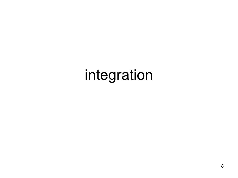8 integration