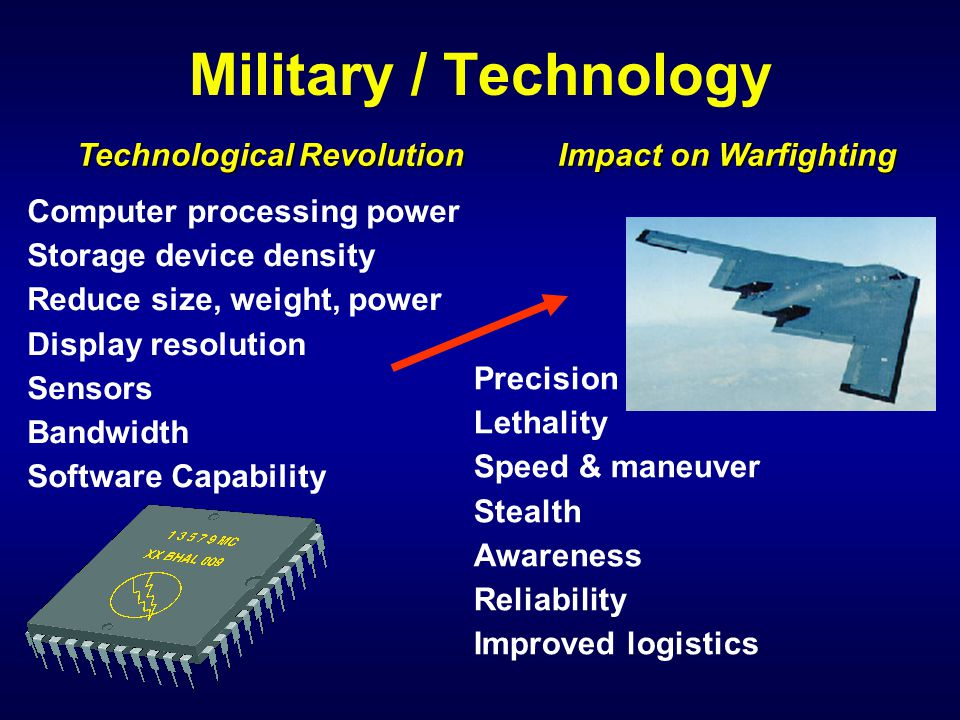 Every military capability depends on computers and networks in one way or another!.