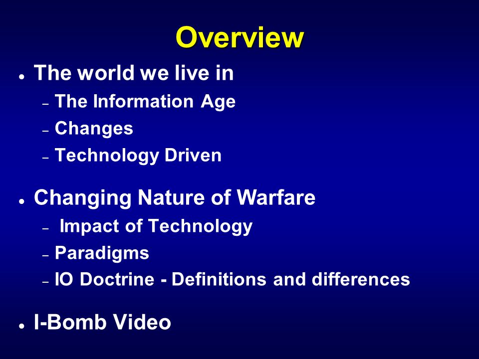 AF Core Competencies l Global Attack l Precision Engagement l Rapid Global Mobility l Air And Space Superiority l Agile Combat Support l Information Superiority Land Space Sea Air The other realm Information