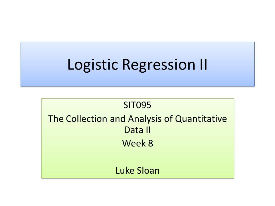 Introduction Recap – Choosing Variables Workshop Feedback My Variables Binary Logistic Regression in SPSS Model Interpretation Summary