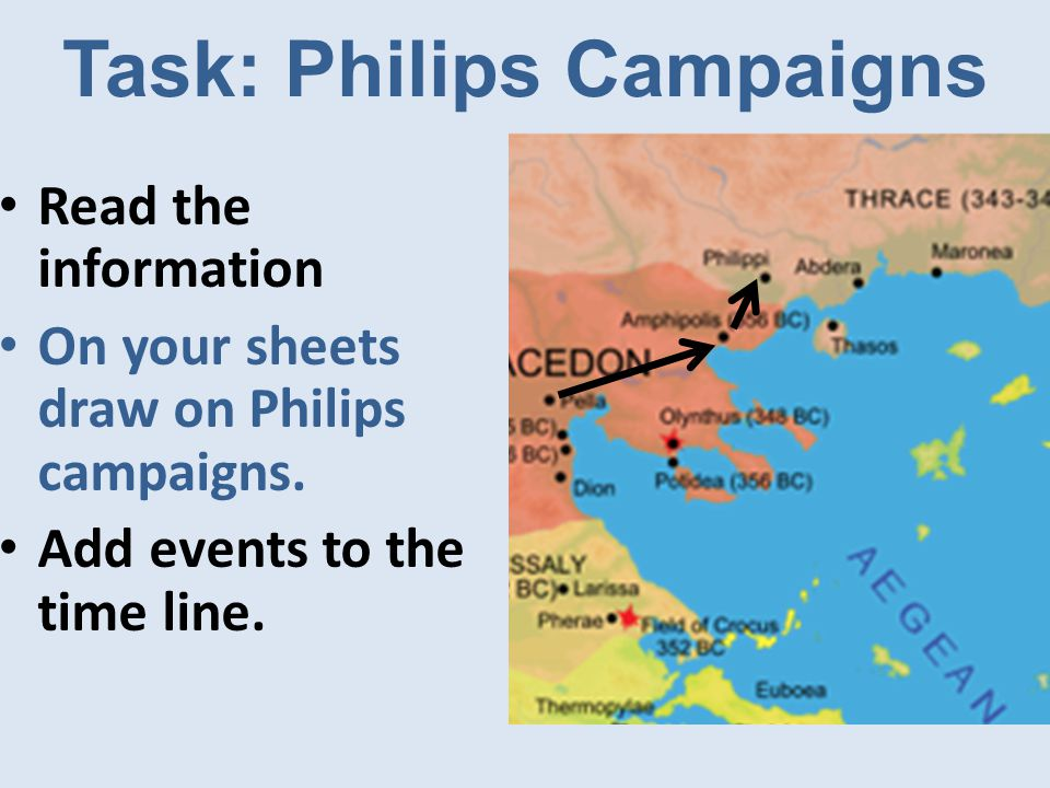 Task: Philips Campaigns Read the information On your sheets draw on Philips campaigns.