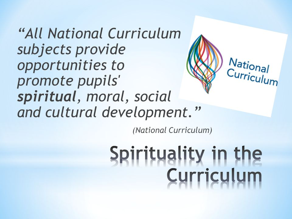 All National Curriculum subjects provide opportunities to promote pupils spiritual, moral, social and cultural development. (National Curriculum)