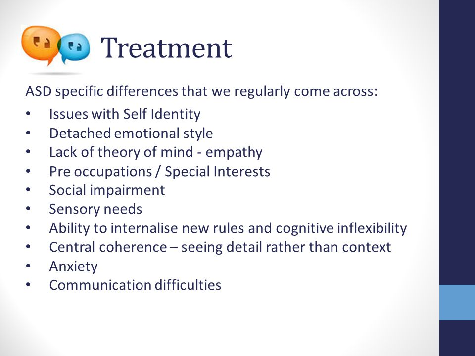Treatment: Self identity 'MODEL PAEDOPHILE' 'GANGSTER' 'PSYCHOLOGIST' 'MODEL PATIENT' 'Borrowed' from: Films Life experiences Other patients Professionals Family Culture He's like a sponge in the environment he soaks up bits of everyone Good Lives Model of offending Using 'New me Old me' to create the non offending self