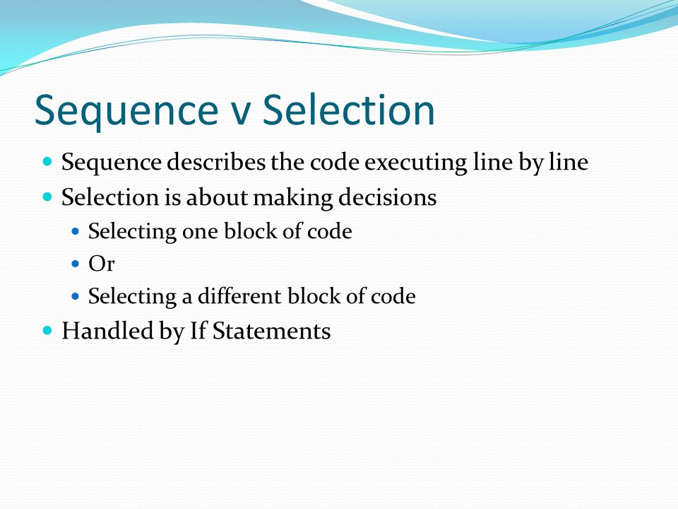 Note The next set of examples won't be needed until driving test 3 (after Christmas) Look at the code and start to get an understanding of what it does Don't worry if it makes no sense at first we will come back to this later on in the module