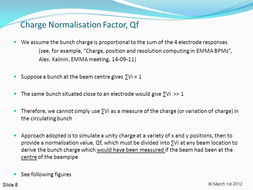 IK March 1st 2012 CST data for Qf vs (Xunc, Yunc) – Cylindrical BPM Slide 9