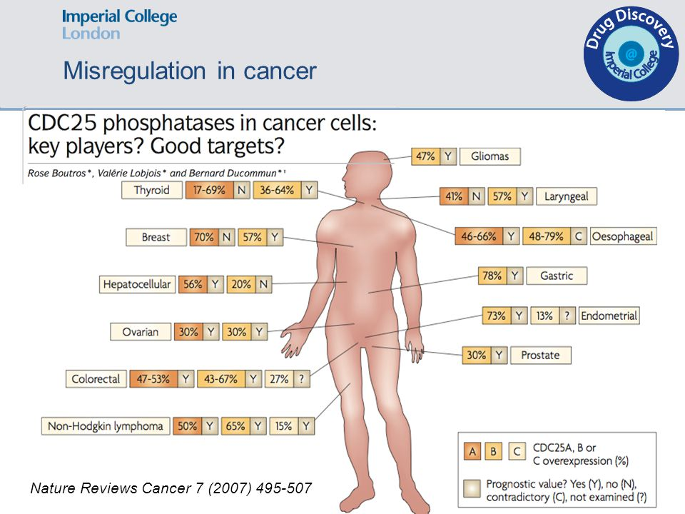 Nature Reviews Cancer 7 (2007) 495-507 Misregulation in cancer