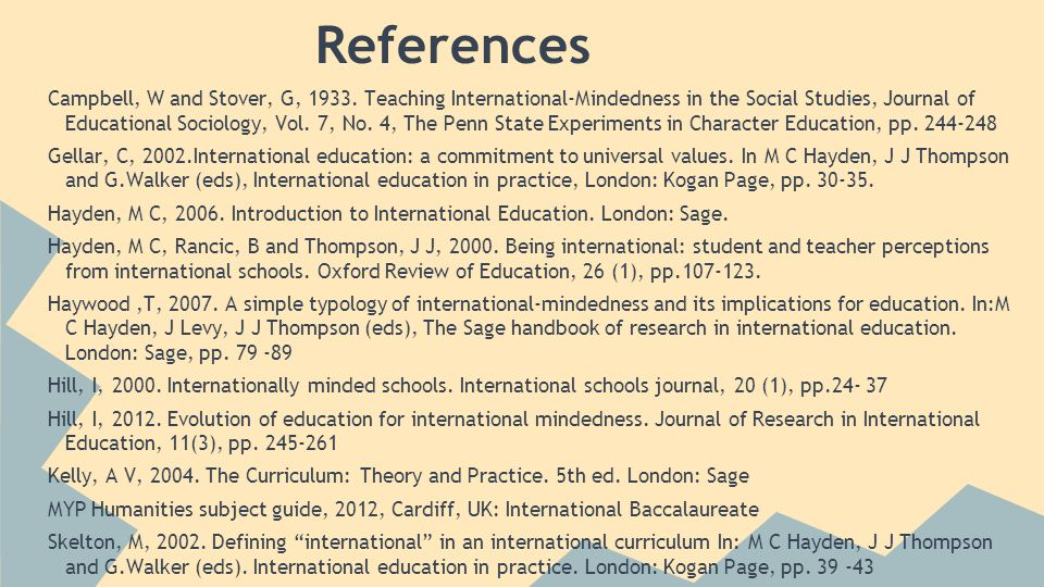 References Campbell, W and Stover, G, 1933.