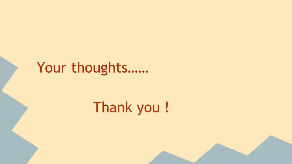 Your thoughts…… Thank you !