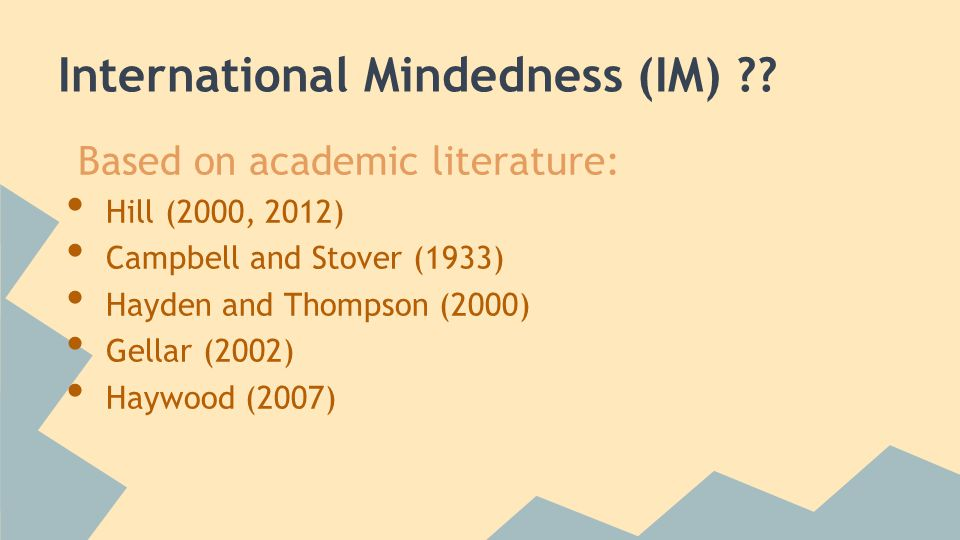 International Mindedness (IM) .