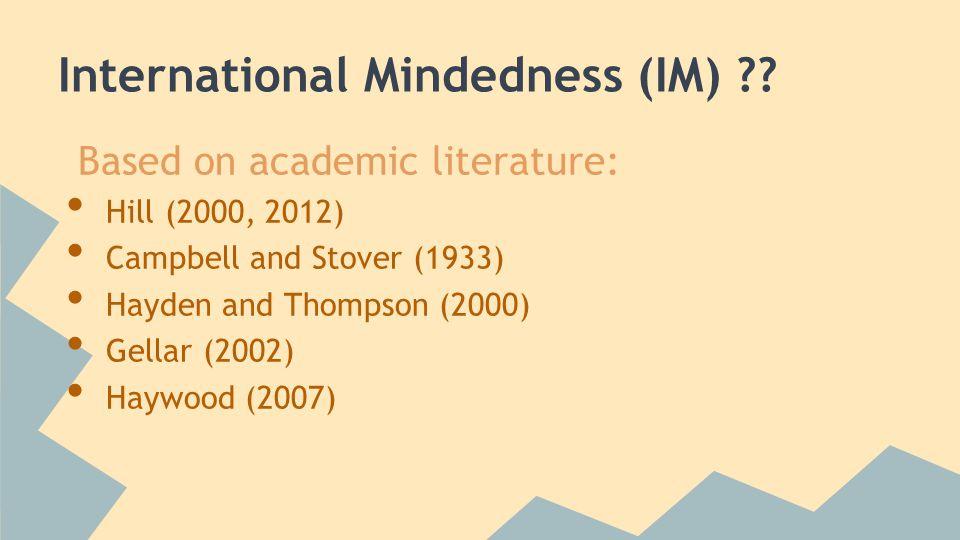 International Mindedness (IM) .