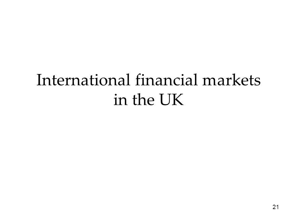 International financial markets in the UK 21