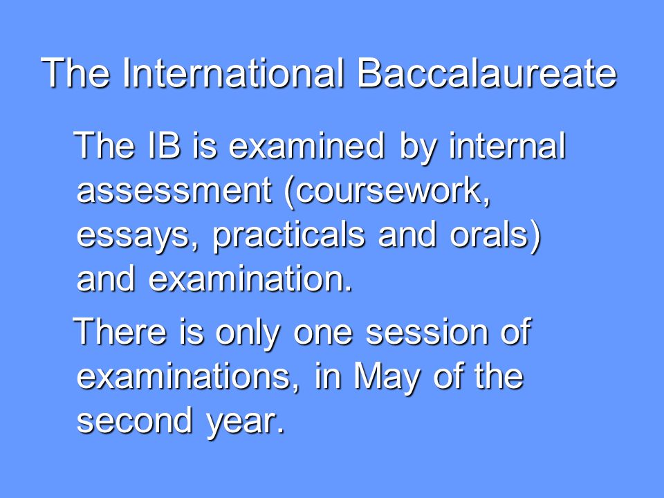 What will I get from following the International Baccalaureate Diploma Programme.