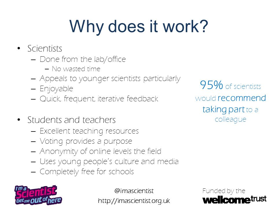 @imascientist http://imascientist.org.uk Funded by the Why take part.