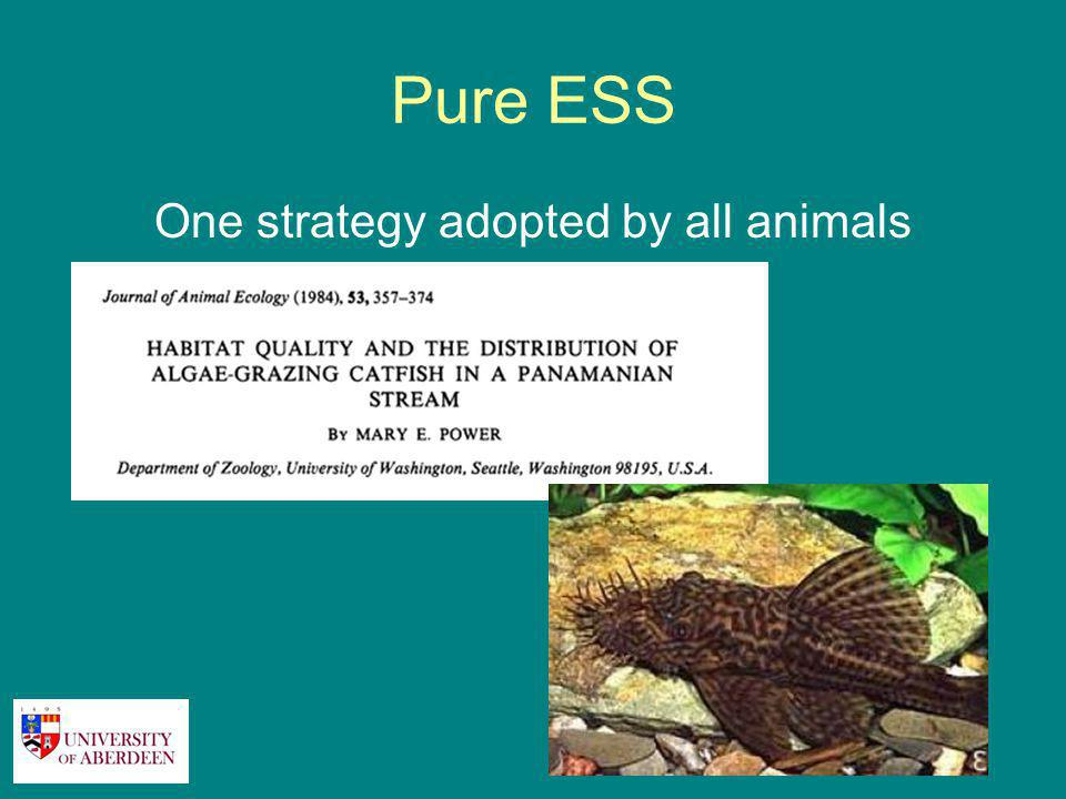 Pure ESS One strategy adopted by all animals