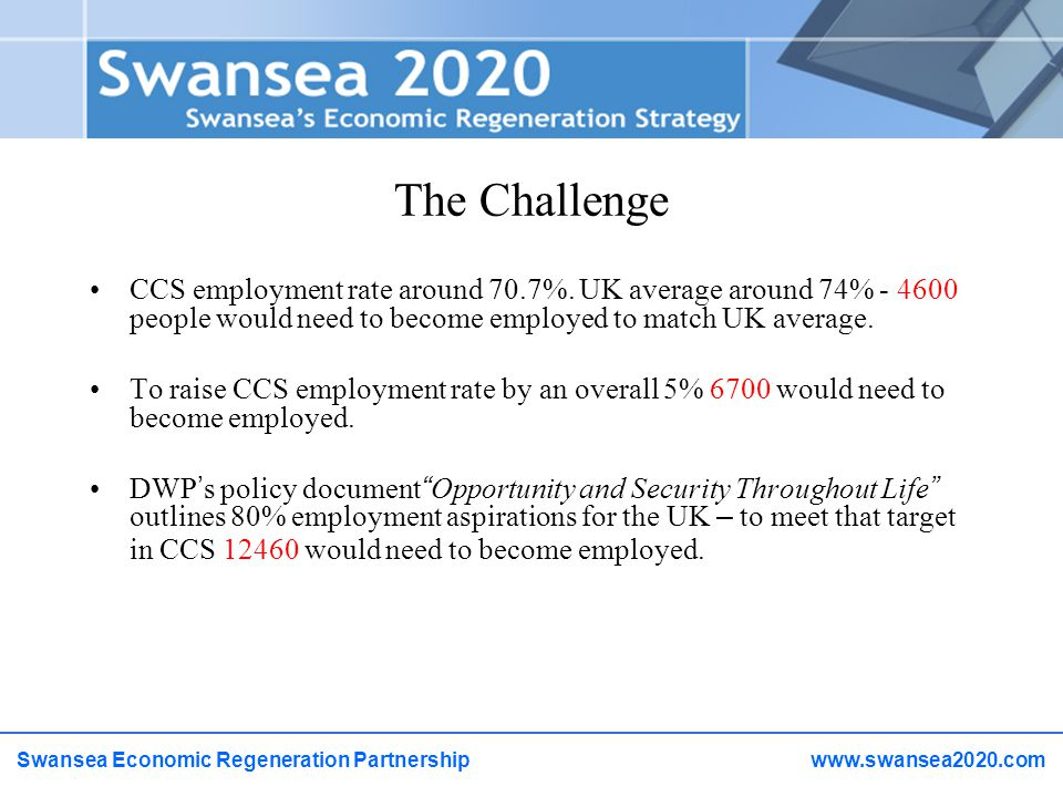 The Challenge CCS employment rate around 70.7%.