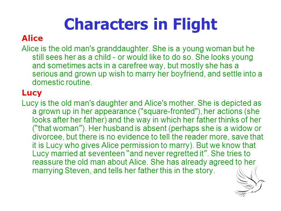 Characters in Flight Steven Steven is Alice s boyfriend.