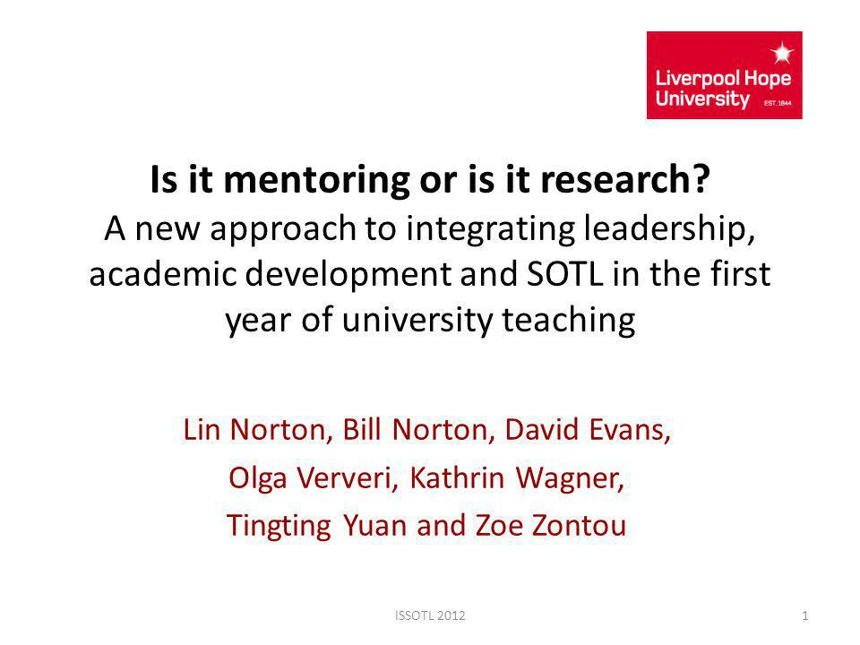 Is it mentoring or is it research.