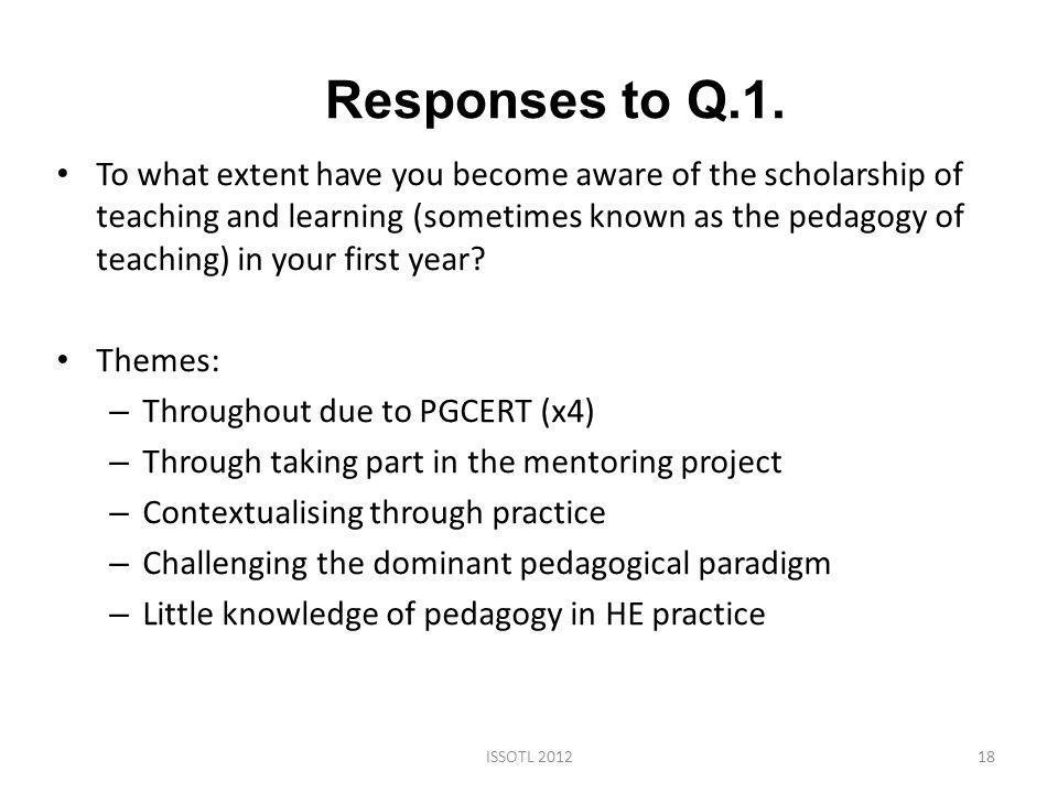 Responses to Q.1.