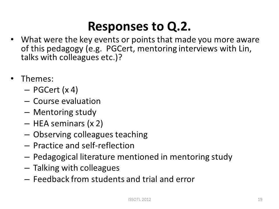 Responses to Q.2.