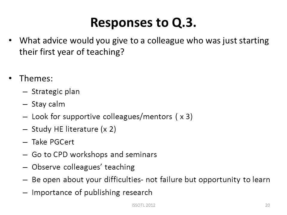 Responses to Q.3.