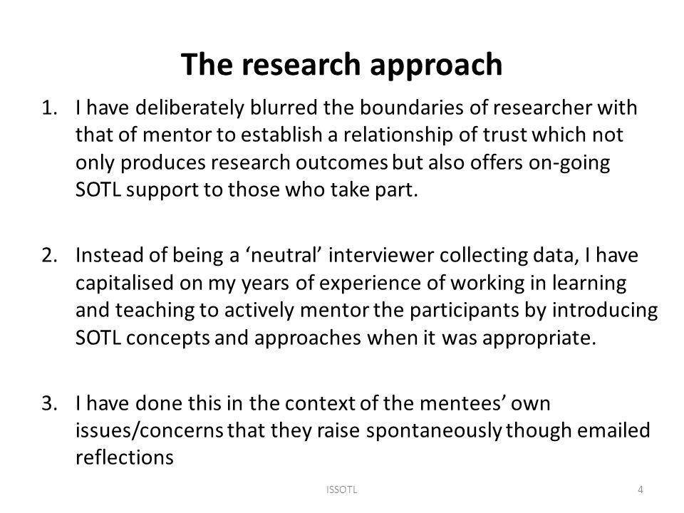 Conclusions from interviews 1.Difficult to show conceptual or developmental change in course of a year 2.Content analysis is a broad brush approach so unable to show any rich meanings at this stage 3.While I was talking to five very different people, with their own issues, I was able to introduce some common SOTL perspectives: ISSOTL 201215 Role of subject knowledge and expertise Teaching as information transmission or learning facilitation Subjectivity of marking; pros and cons of assessment criteria Taking account of the student perspective (learning how to learn)