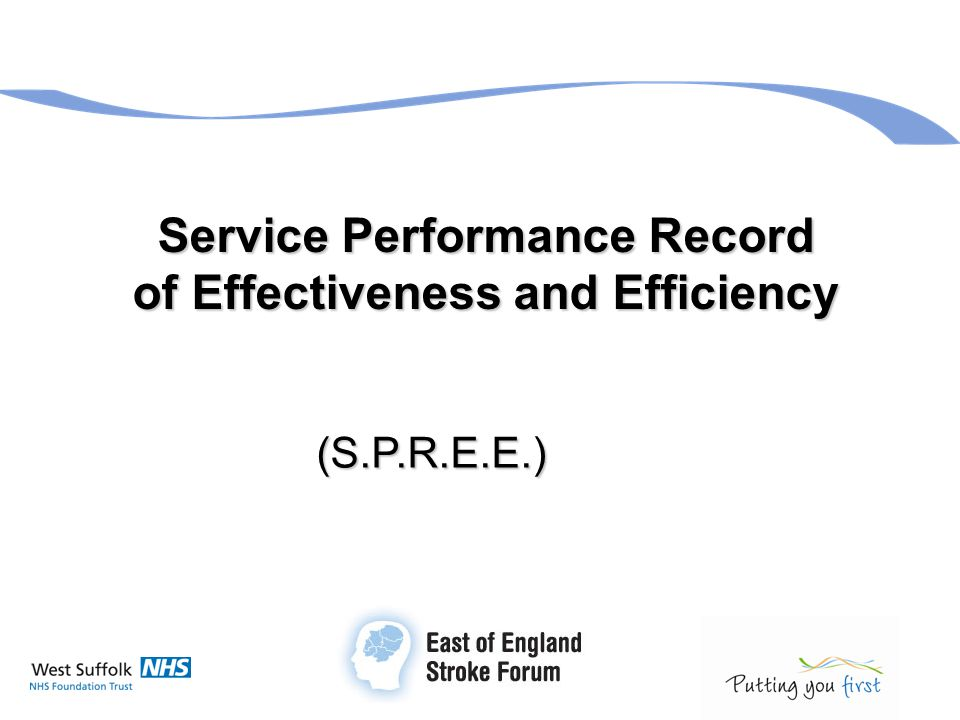 Service Performance Record of Effectiveness and Efficiency (S.P.R.E.E.)