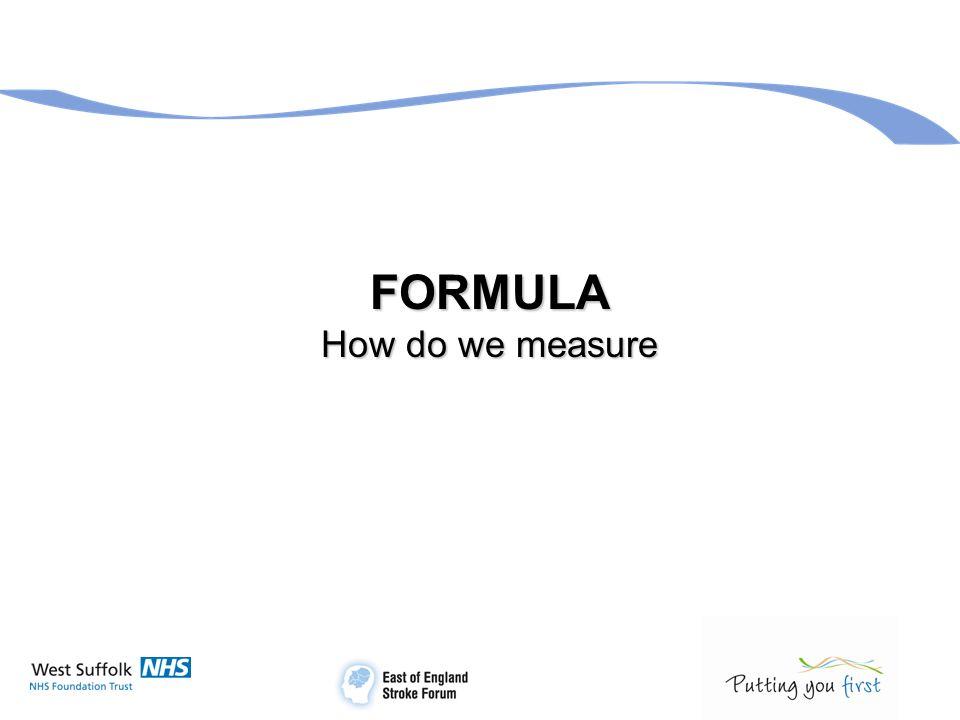 FORMULA How do we measure