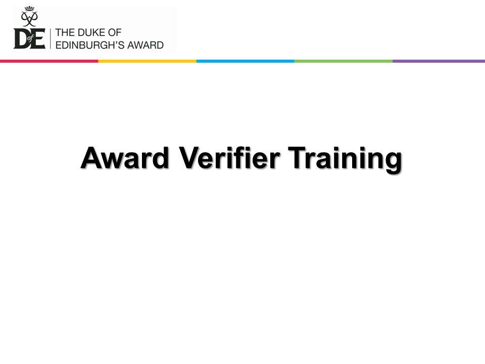 Award Verifier Training