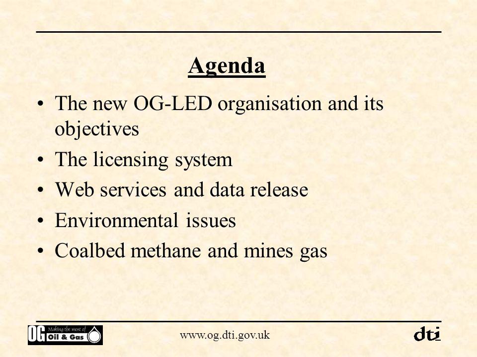 www.og.dti.gov.uk Where does OG-LED fit in DTI?