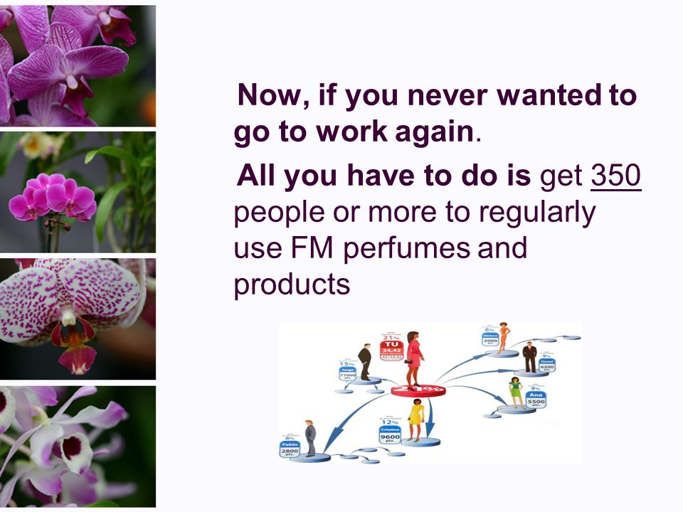 Most people........ Most people know that they are very expensive. Well, there is a company called FM that saves you 70% on luxury perfumes and cosmet