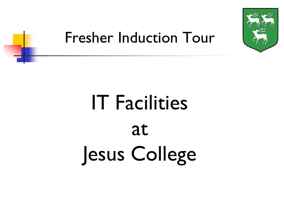 Fresher Induction Tour IT Facilities at Jesus College