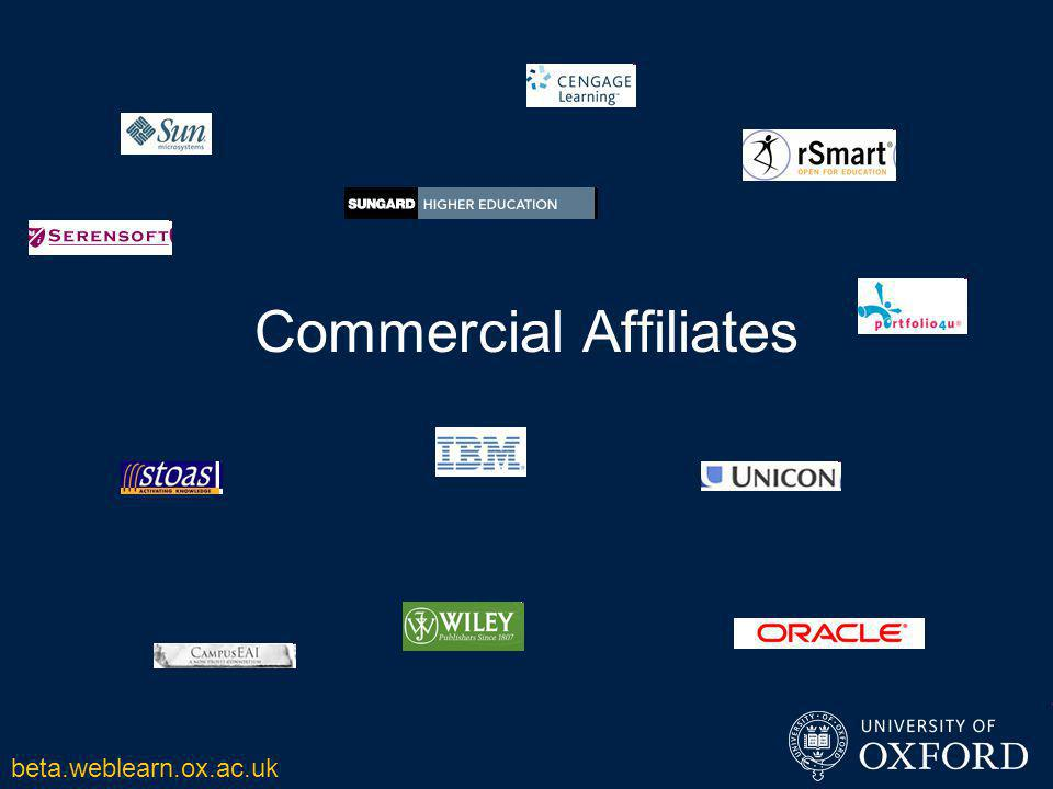 Commercial Affiliates beta.weblearn.ox.ac.uk