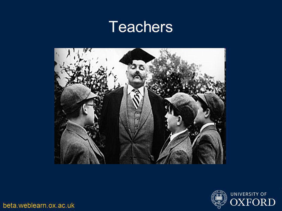 Teachers beta.weblearn.ox.ac.uk