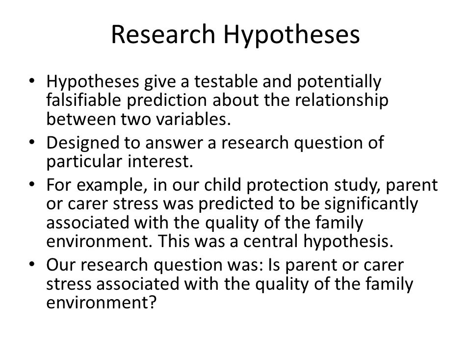 Hypothesis In Research
