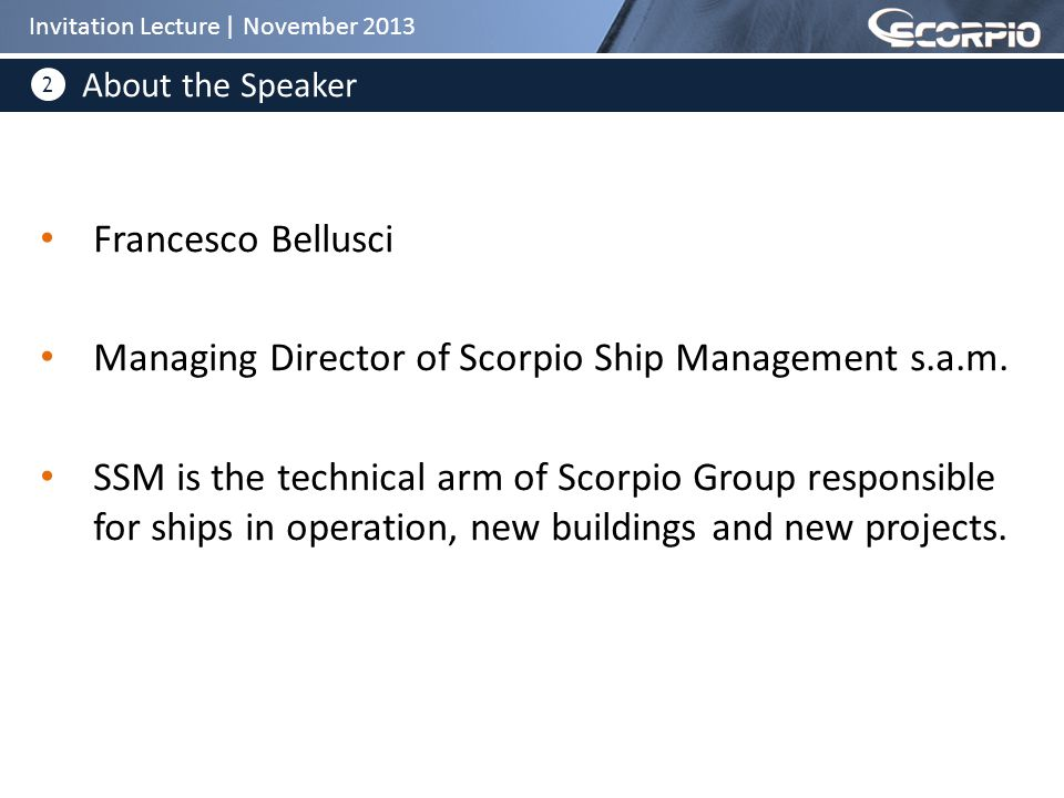 2 Francesco Bellusci Managing Director of Scorpio Ship Management s.a.m.
