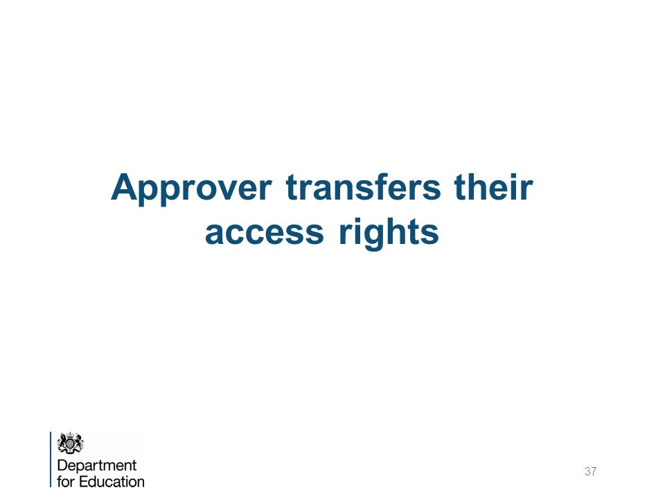 Approver transfers their access rights 37